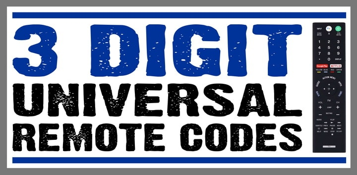 3 digit remote codes for LCD TV