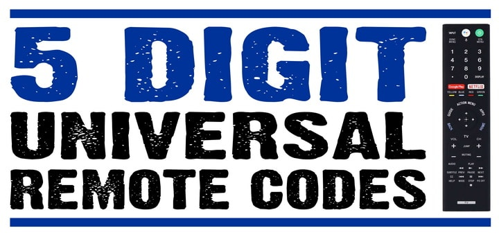 5 Digit Universal Remote Codes For TV | Codes For Universal Remotes
