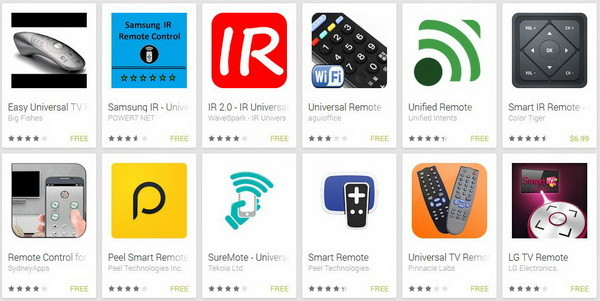 universal remote control TV apps for android