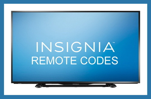Insignia TV remote codes