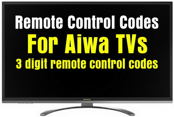AIWA tv remote codes