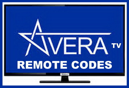 Remote Control Codes For Avera TVs