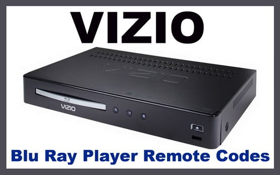 Vizio blu ray player remote codes