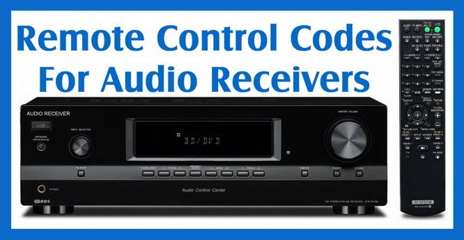 Remote Codes For Stereo Audio Receivers