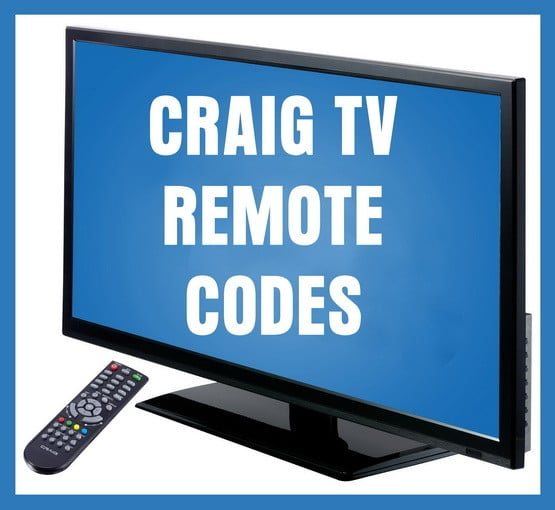 Craig tv remote codes