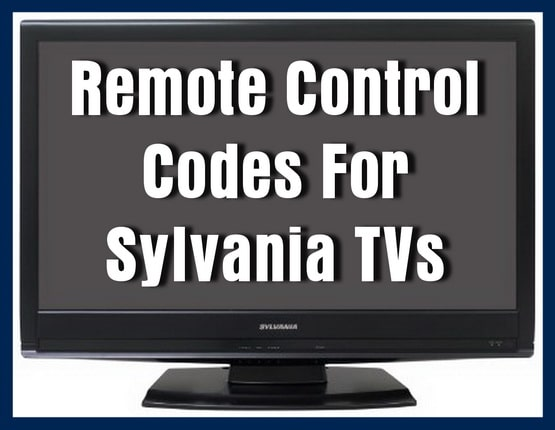 Sylvania TV Remote Codes