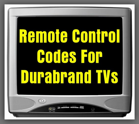 Durabrand TV Remote Codes