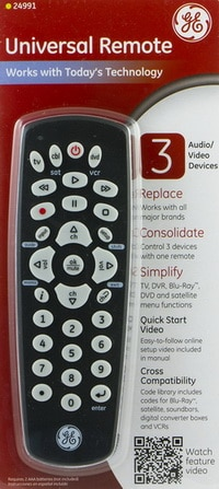GE Universal Remote Control 3 in 1 Device Infrared