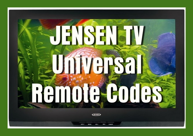 Remote Control Codes For JENSEN TVs | Codes For Universal Remotes