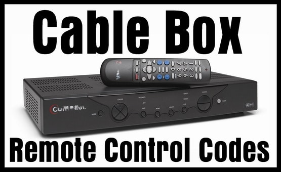 Cable Box Remote Control Codes | Codes For Universal Remotes