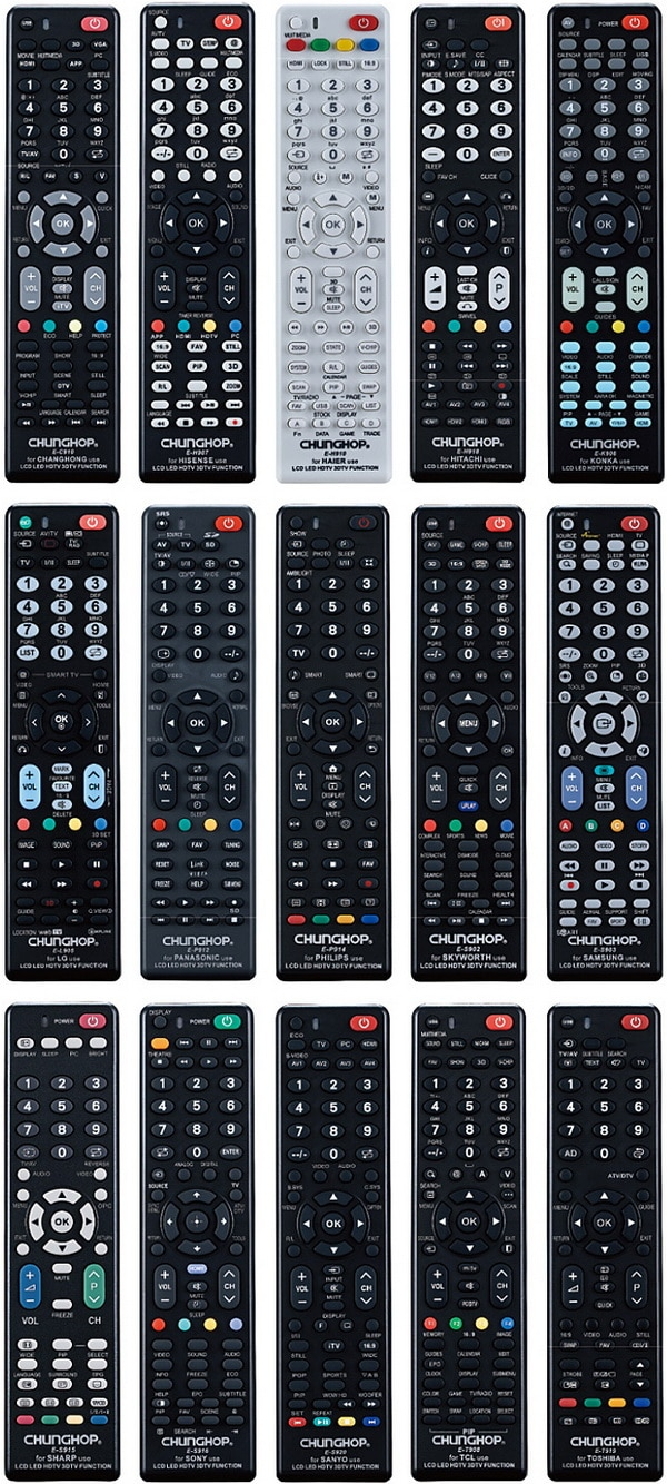 Chunghop universal remote controls