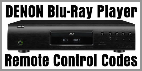 Denon Blu-Ray Player Remote Codes