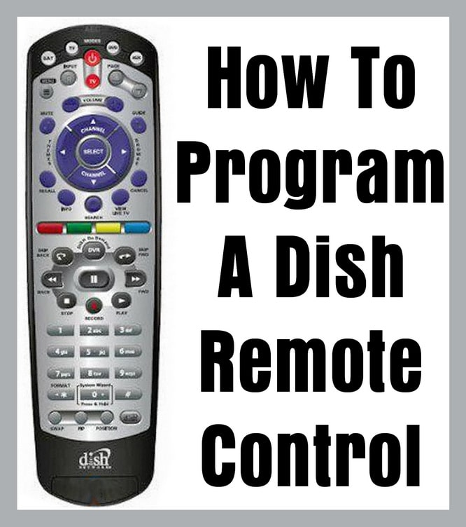 Dish Remote Control - How To Program