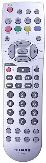 Hitachi Remote Control For LCD LED HDTV TV