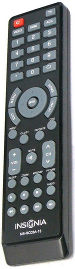INSIGNIA TV Remote Control OEM Original Part