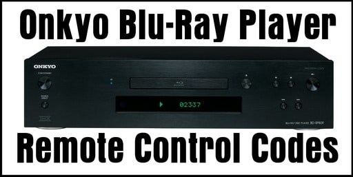 Onkyo Blu-Ray Disc Player Remote Codes