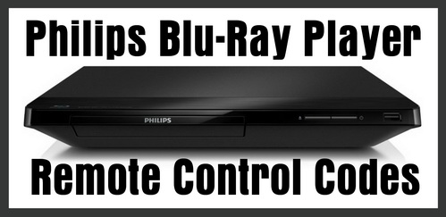 Philips Blu-Ray Disc Player Remote Codes
