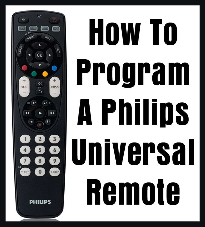Philips Universal Remote - How To Program