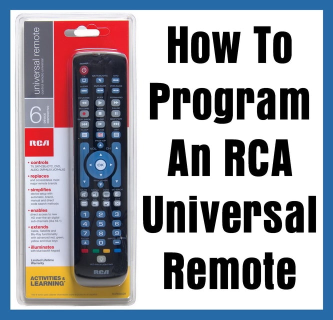 RCA Universal Remote - How To Program