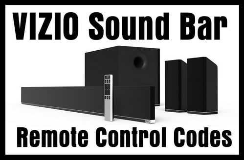 Vizio Soundbar Remote Control Codes | Codes For Universal