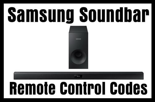 Remote Control Codes For Samsung Soundbars