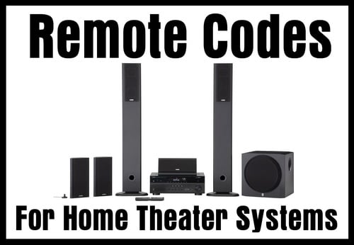 Home Theater System Remote Codes Codes For Universal Remotes