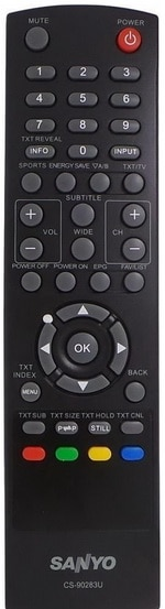 Sanyo Remote Control For LCD Plasma HDTV TV
