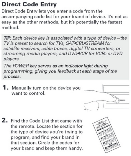 RCA 3 in 1 Universal Remote - Programming & Remote Codes For TV