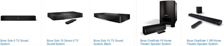 Bose Sound Bar Audio Systems