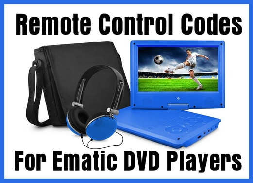 Ematic DVD Player Remote Control Codes
