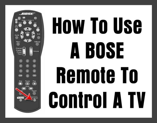 BOSE Universal Remote Codes | Codes For Universal Remotes
