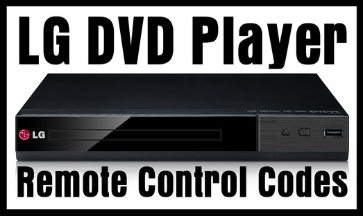 LG DVD Player Remote Control Codes