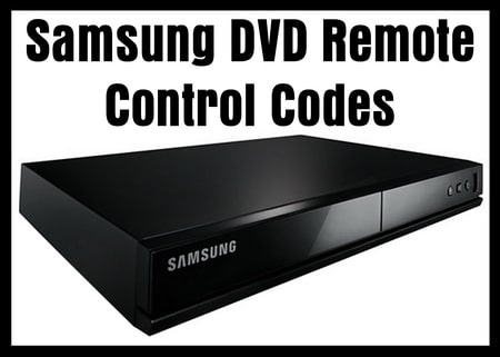 Samsung DVD Remote Control Codes | Codes For Universal Remotes