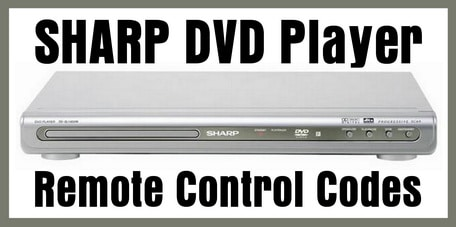 Sharp DVD Player Remote Codes