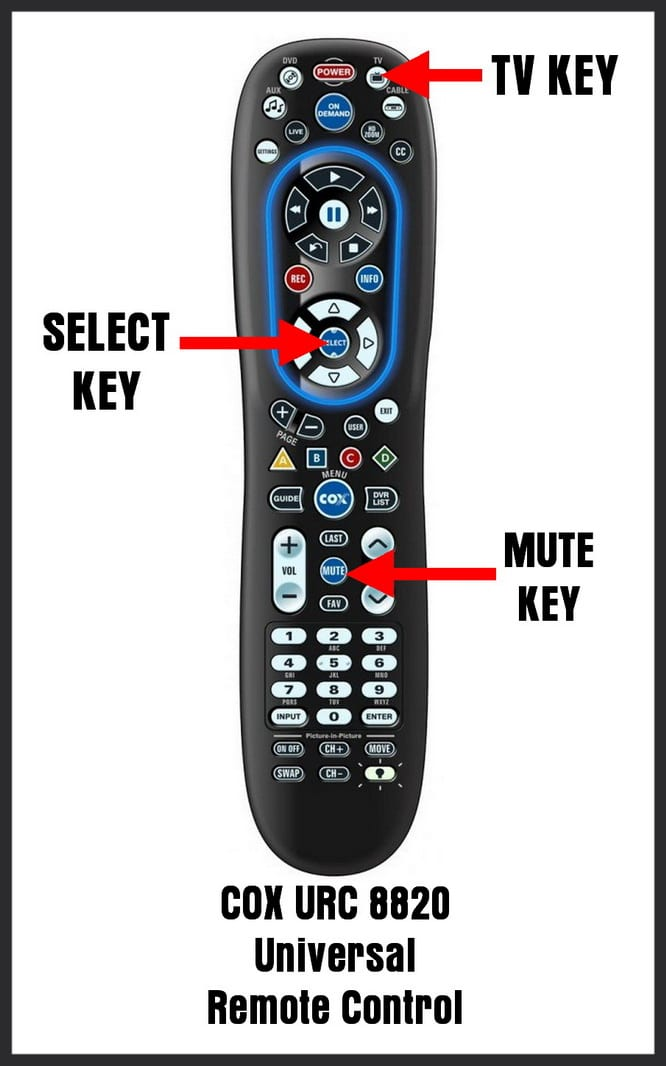 How To Program COX URC 8820 Remote Control - Codes For Universal Remotes