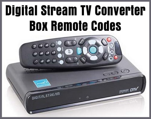 Digital Stream Converter Box Remote Control Codes