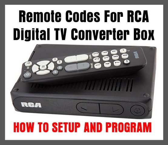 RCA Digital TV Converter Box Remote Codes | Codes For Universal Remotes