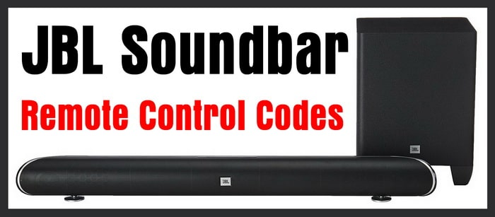 JBL Soundbar Remote Codes