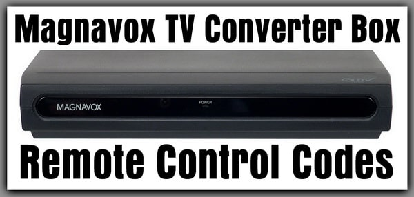 Magnavox TV Converter Box Remote Codes