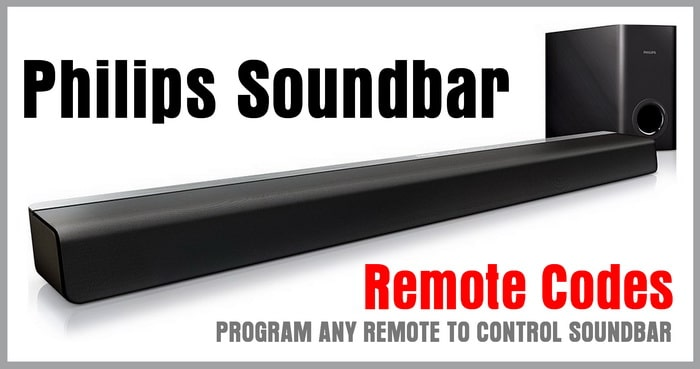 Philips Soundbar Remote Control Codes | Codes For Universal
