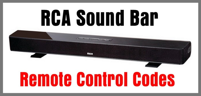 RCA Soundbar Remote Control Codes | Codes For Universal Remotes