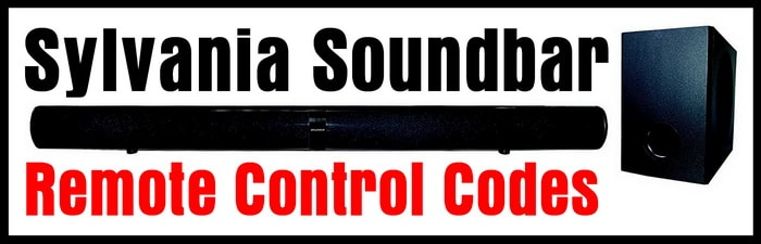 Sylvania Soundbar Remote Codes