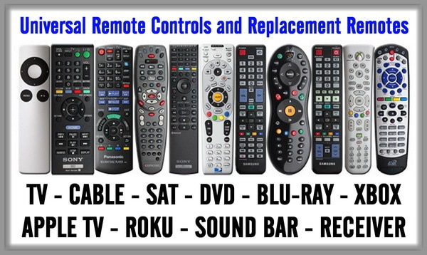 Universal Remote Controls and Replacement Remotes
