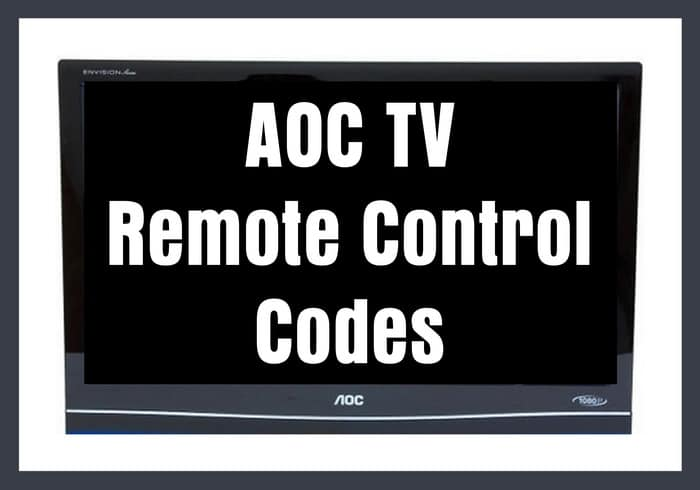 AOC TV Remote Control Codes