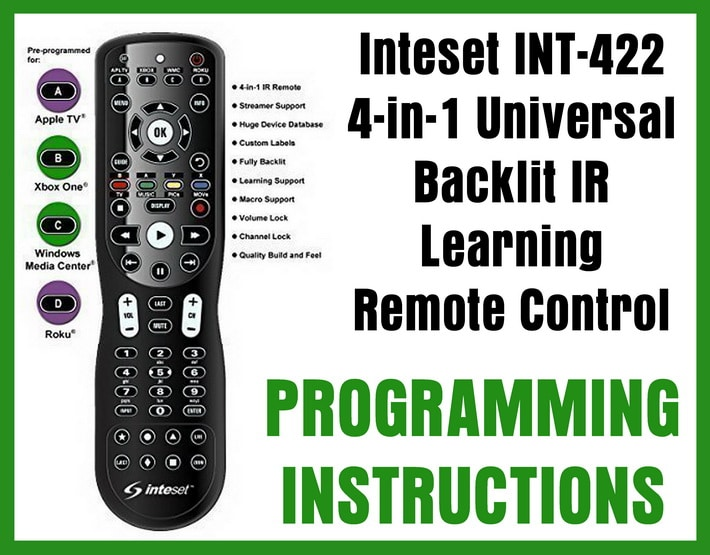 Inteset INT-422 4-in-1 Universal Backlit IR Learning Remote Control