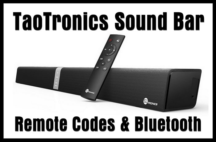 TaoTronics Soundbar Remote Control Codes | Codes For