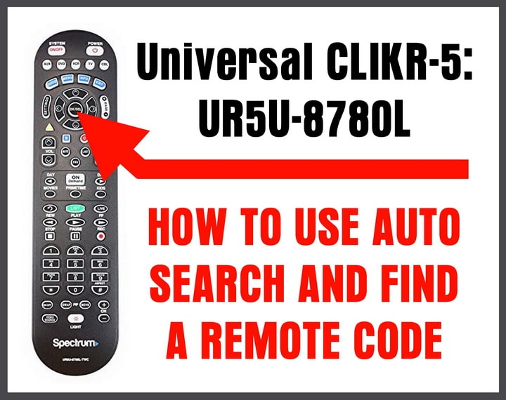 Universal UR5U-8780L Remote Control AUTO SEARCH FOR CODES
