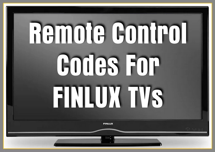 Remote Control Codes For Finlux TVs